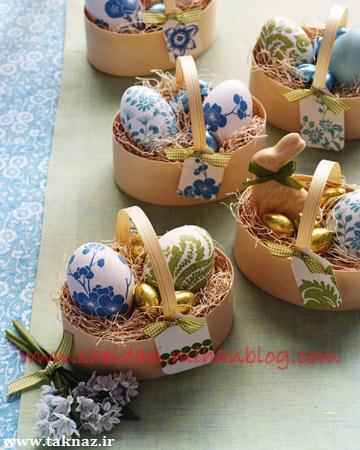 مدل های جالب تخم مرغ رنگی سفره هفت سین
