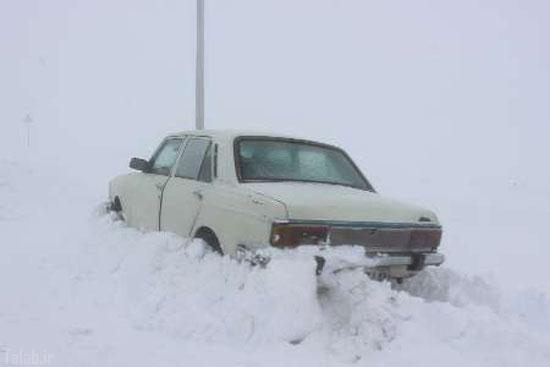 عکس های بارش برف نیم متری در خلخال