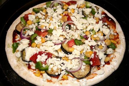 آموزش طرز تهیه پیتزا سبزیجات در سبک ناتورالیسم