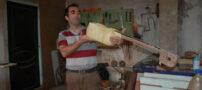 عکس هایی از کارگاه ساخت تار در ارسباران