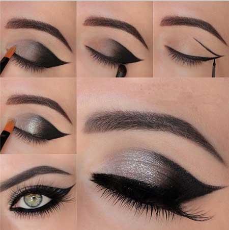 آموزش کامل تصویری مدل آرایش چشم زیبا و جذاب