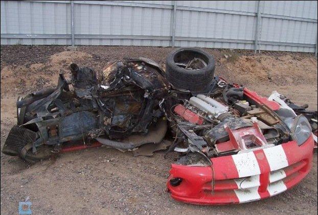 عکس هایی دلخراش از تصادف سوپر خودروها