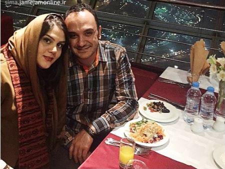 عکسی از سالگرد ازدواج احسان کرمی و همسرش در برج میلاد