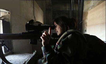 عکس های جنگیدن زنان گارد ریاست جمهوری سوریه