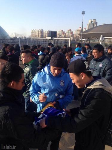 استقبال بی نظیر چینی ها از پورعلی گنجی