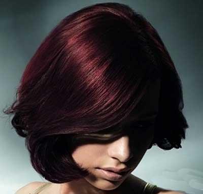 مدل موهای عنابی رنگ سال 94