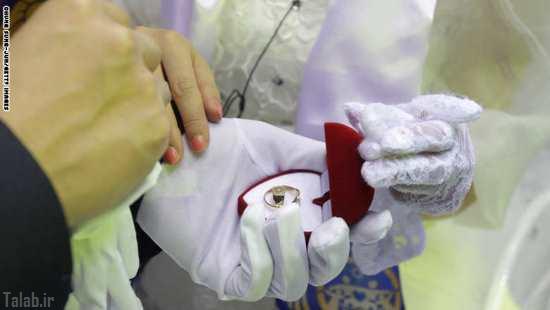 تصاویر دیدنی از مراسم ازدواج 3800 جوان کره ای