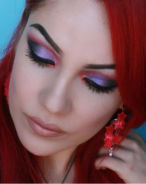 مدل های زیبای آرایش با رنگ های سال