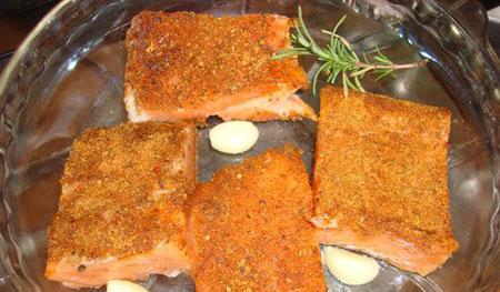 آموزش طرز تهیه کته با ماهی سالمون