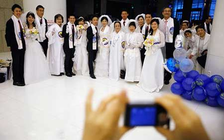 ازدواج جالب همزمان 3800 نفر در چین (+عکس)