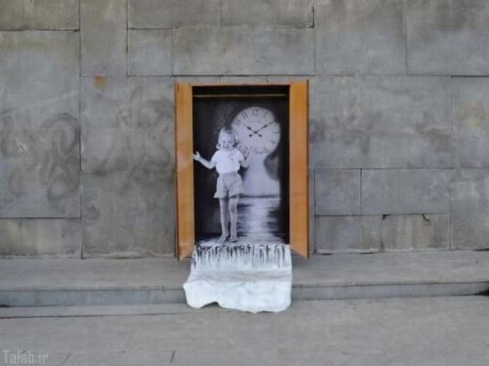 عکس های زیبا و دیدنی از نقاشی های خیابانی