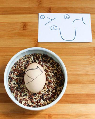 تزیین تخم مرغ هفت سین به این شکل جالب