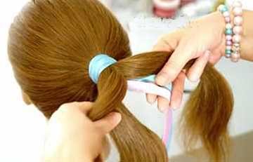 آموزش تصویری بافت مو دخترانه توسط ربان