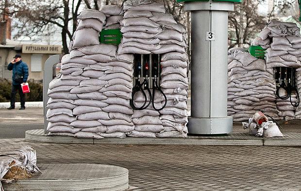 یک پمپ بنزین جالب در اوکراین