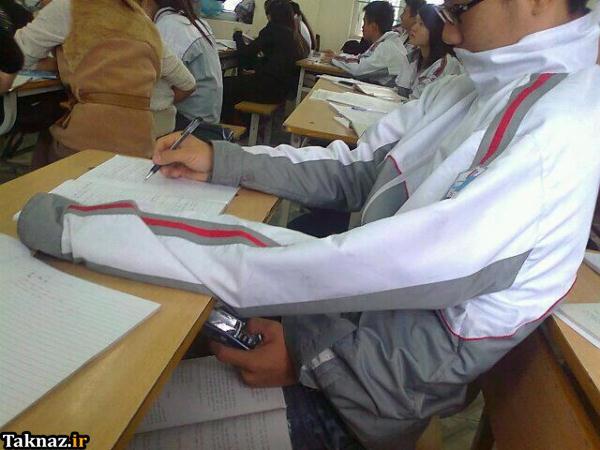 عکس هایی از عجیب ترین روش های تقلب در امتحان