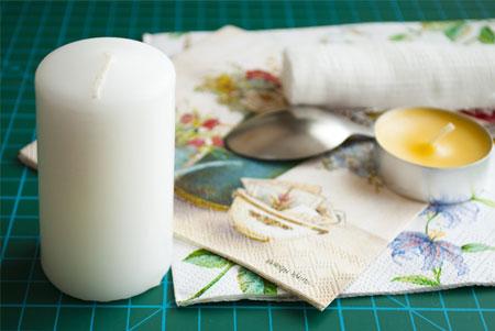آموزش دکوپاژ شمع های ساده برای هفت سین