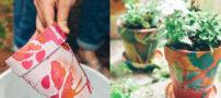 آموزش جالب رنگ و تزیین گلدان با لاک ناخن