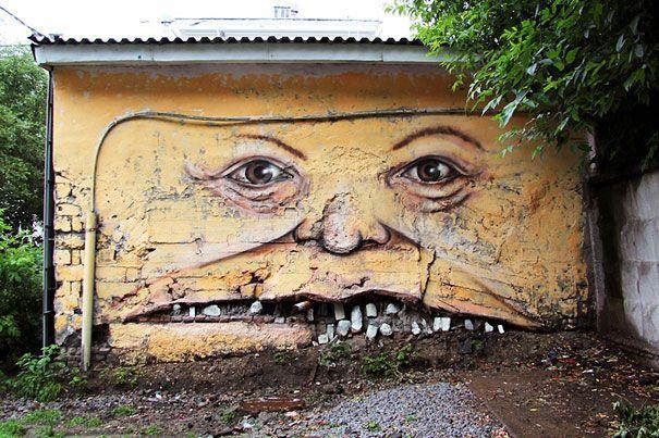 نقاشی های خنده دار و دیدنی در معابر