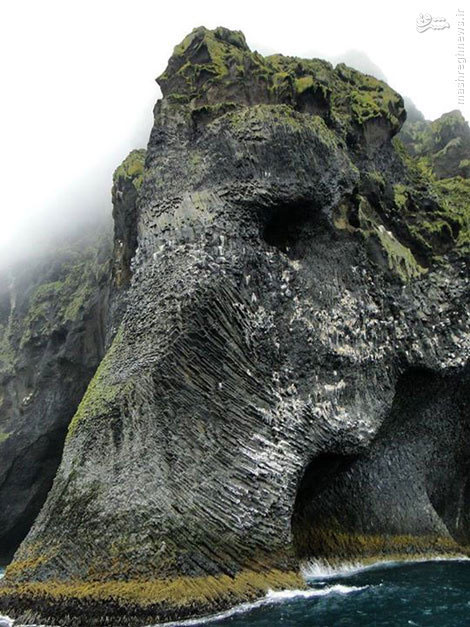 صخره ای به شکل فیل در ایسلند