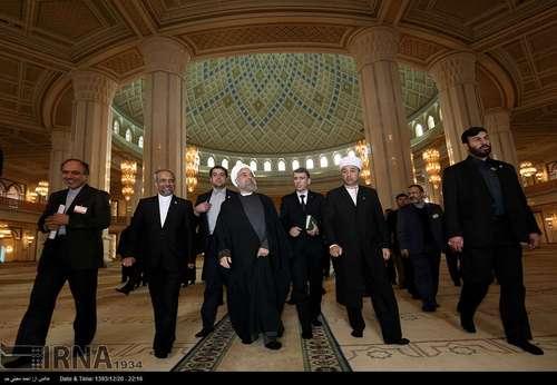 تصاویر بازديد روحاني از مسجد جامع روح ترکمنباشي