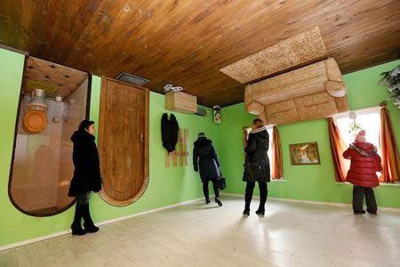 خانه ای وارونه در روسیه که جاذبه گردشگری شد !+ عکس