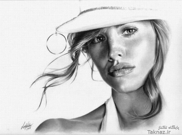 عکس هایی دیدنی نقاشی های زیبا از چهره با مداد