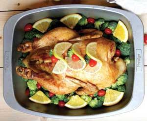 آموزش طرز تهیه مرغ شکم پُر با سس مركبات