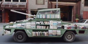 تانکی عجیب که کتاب شلیک می کند + تصاویر