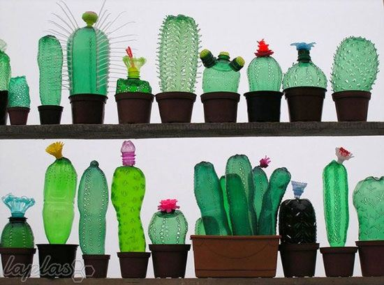 ساخت گیاهان و حیوانات با بطری های پلاستیکی