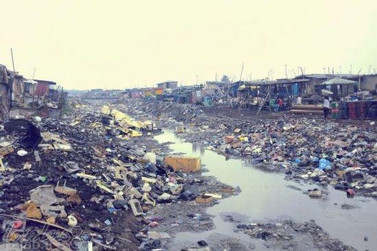 تصاویری از کثیف ترین مکان دنیا در کشور غنا