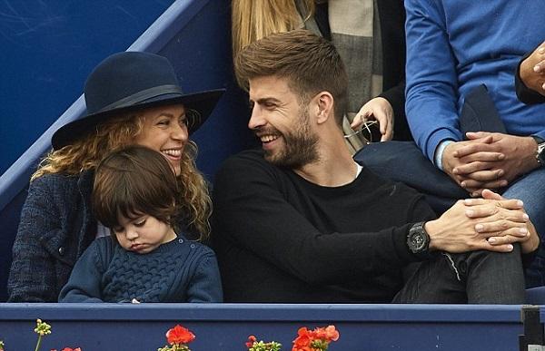 حضور پیکه و شکیرا و فرزندشان در مسابقات تنیس