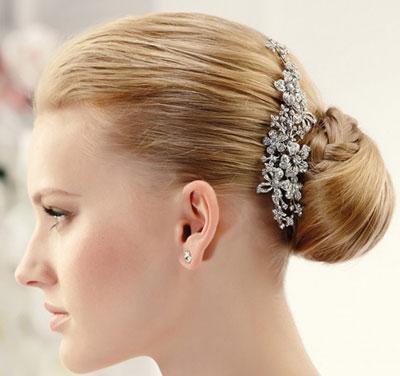 مدل های شیک زیبای گل سر ساده عروس