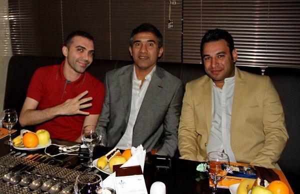 تصاویر مهمانی شام عابدزاده در یک رستوران