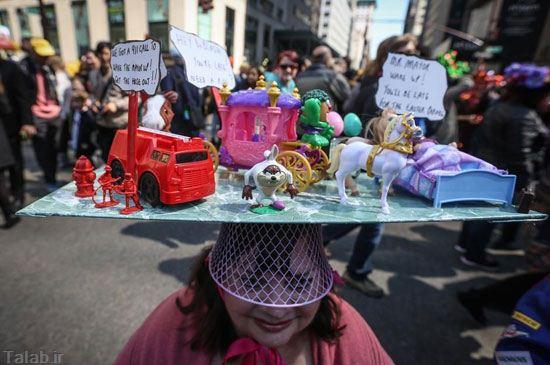 جشنواره کلاه های بامزه در نیویورک