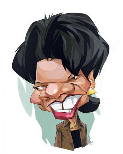کاریکاتورهای یک کاریکاتوریست ناشنوا از چهره های مشهور