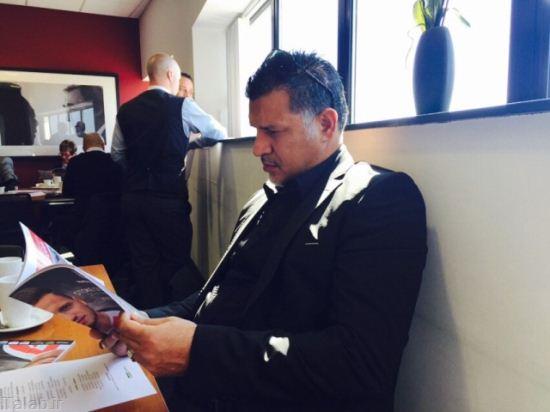 تصاویر از حضور علی دایی در باشگاه استوک سیتی