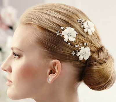 مدل های زیبای گل سر ساده عروس