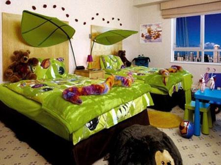 طراحی دکوراسیون اتاق مشترک دختر و پسر