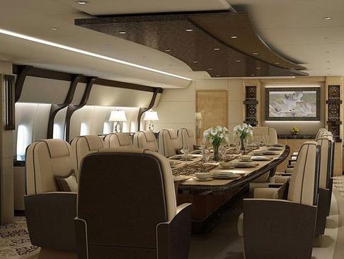این هواپیمای خصوصی است یا هتل ؟ (عکس)