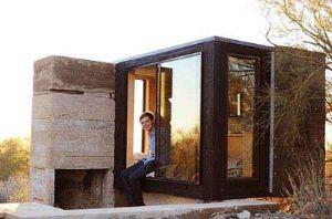 ساخته شدن خانه دانشجویی در کویر (عکس)