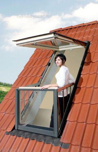 پنجره ای که با بازکردن بالکن می شود + عکس