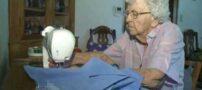 کار بی نظیر پیرزن 99 ساله برای خیریه + عکس