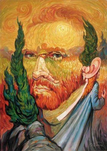 نقاشی های تلفیقی جالب از چهره ها و مناظر