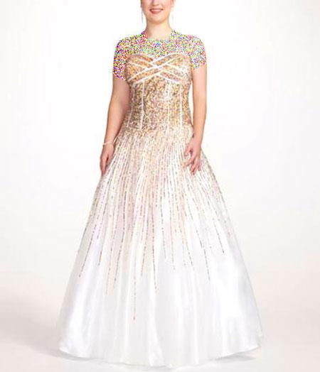 مدل های لباس جدید شب برای خانم های چاق (5)