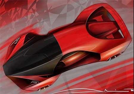 طراحی خودرو فراری F80 + تصاویر