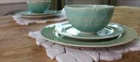 عکس هایی از تزئین میز با موزائیک های سنگی