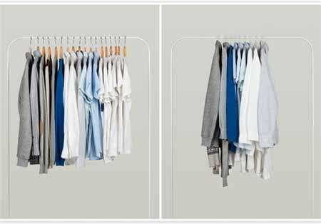 طراحی جالب آویز لباس دو در یک + تصاویر