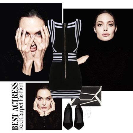 مدل های شیک لباس بهاری به سبک آنجلینا جولی