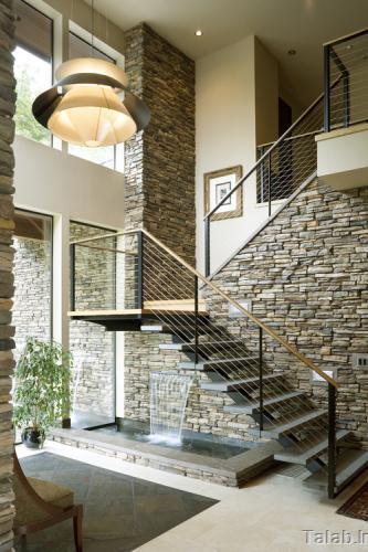 زیباترین دکوراسیون داخلی با طراحی سنگ