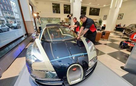 گرانترين پوليش برای گرانترين خودروی دنيا (+عکس)